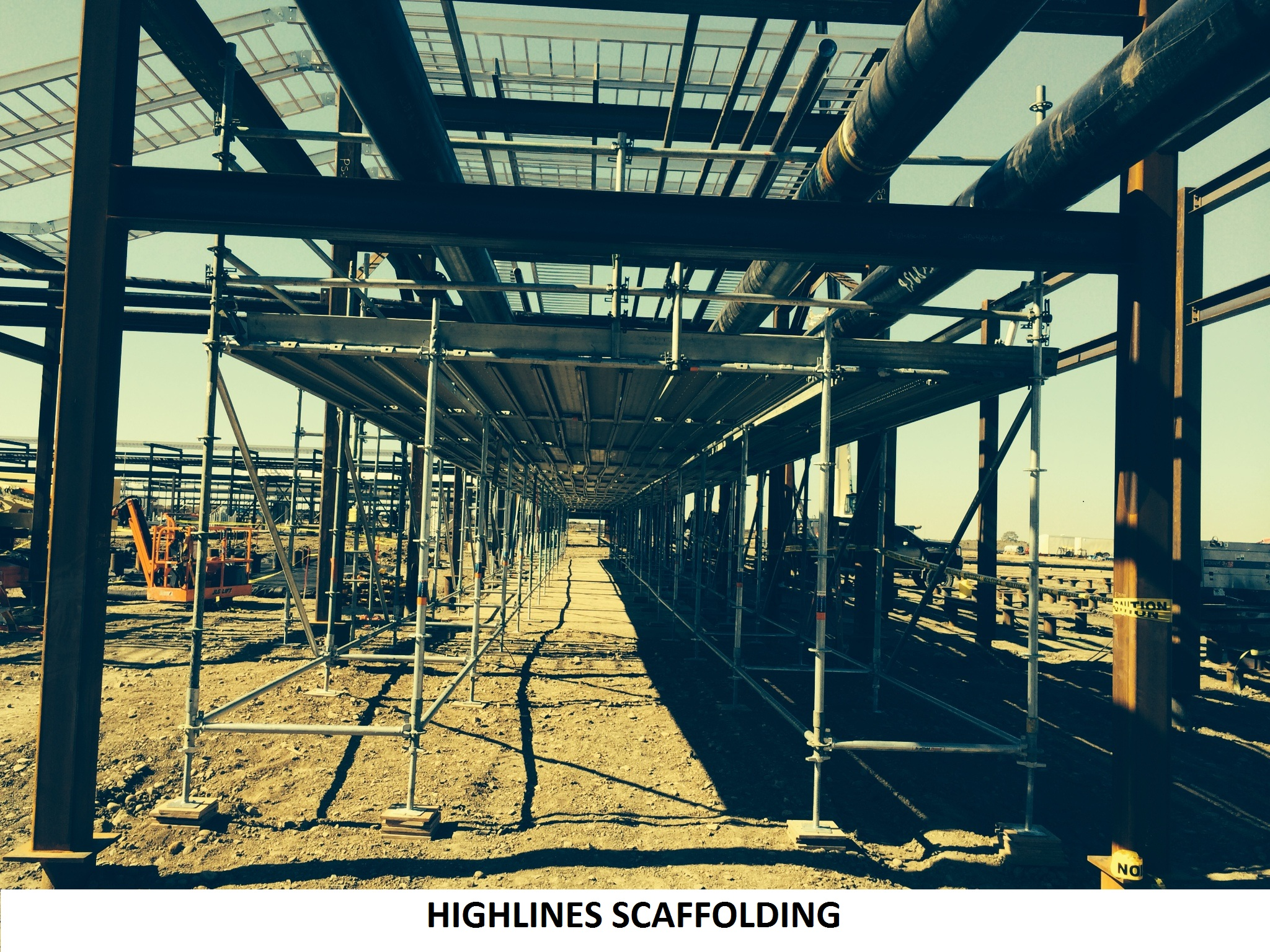Scaffolding for highlines 2