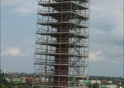 Completed Smoke Tower Scaffold