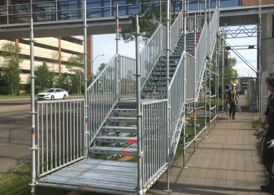 Scaffold used for Public Stairs
