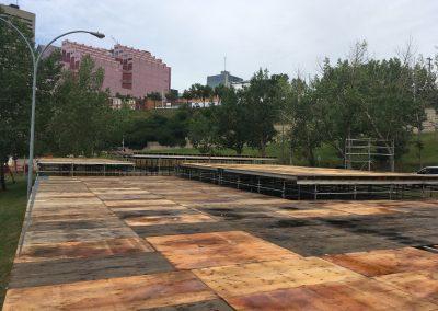 Edmonton Alberta Scaffolding Skateboard Park Platform King Scaffolding