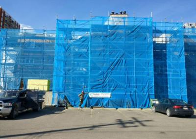 Condo Construction Scaffolding