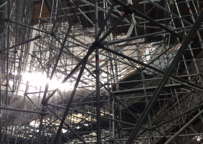 Commercial Scaffolding Ceiling Access Solution