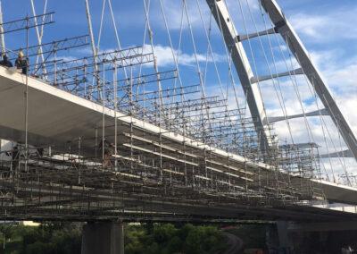 Suspended Scaffold Working Platform Walterdale Bridge AB