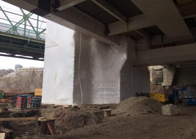 Edmonton Bridge Shrink-Wrap Hoarding