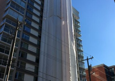 Edmonton High-rise Shrink Wrap Hoarding Scaffold