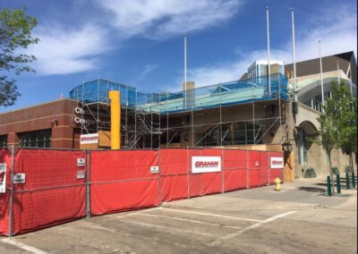 King Scaffolding Edmonton Debris Chute project installation