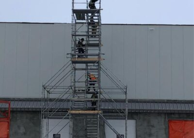 Temporary Scaffold Access Platform and Stairs
