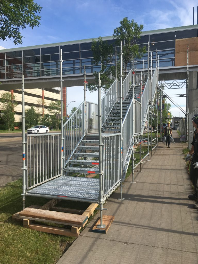 Temporary Stair Access Structure by King Scaffolding