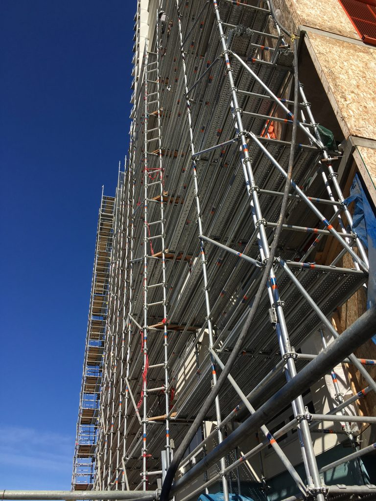 Highrise Condo Construction Scaffolding Structure by King Scaffolding